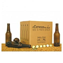 Cervezania - 16 botellas 33cl + chapas