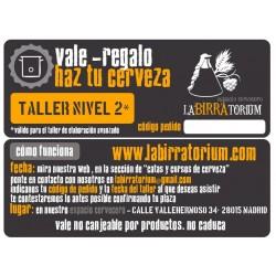 VALE-REGALO: TALLER ELABORACION DE CERVEZA- NIVEL 2