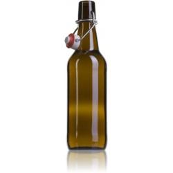 Botella marrón vacía 50 cl - CON TAPÓN