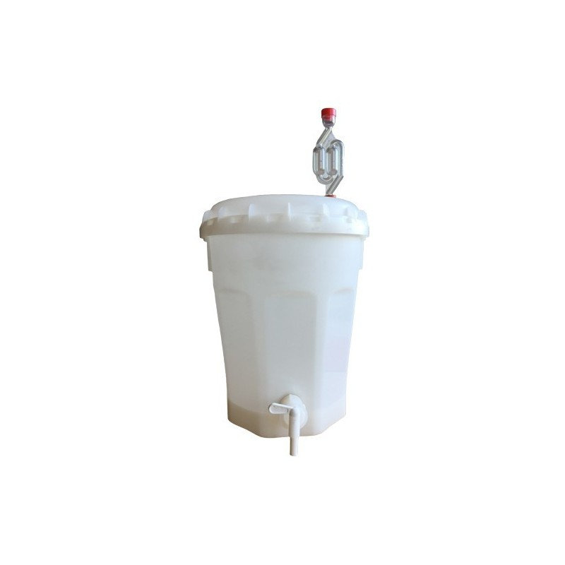 Cubo de fermentación con tapa 11 Litros