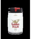 Barril Gulden Draak 5 L. + 6 Vasos Huevo de dragón + 5 Posavasos metálicos